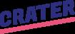 Crater's logotyp. Crater är en webbyrå i Falun, Dalarna
